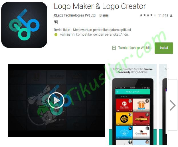 Aplikasi ini Pembuat logo di android gratis