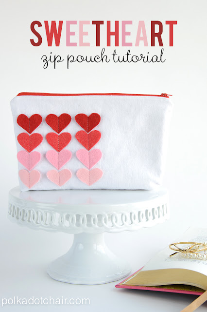 Sweetheart Zip Pouch Tutorial by Melissa Mortenson