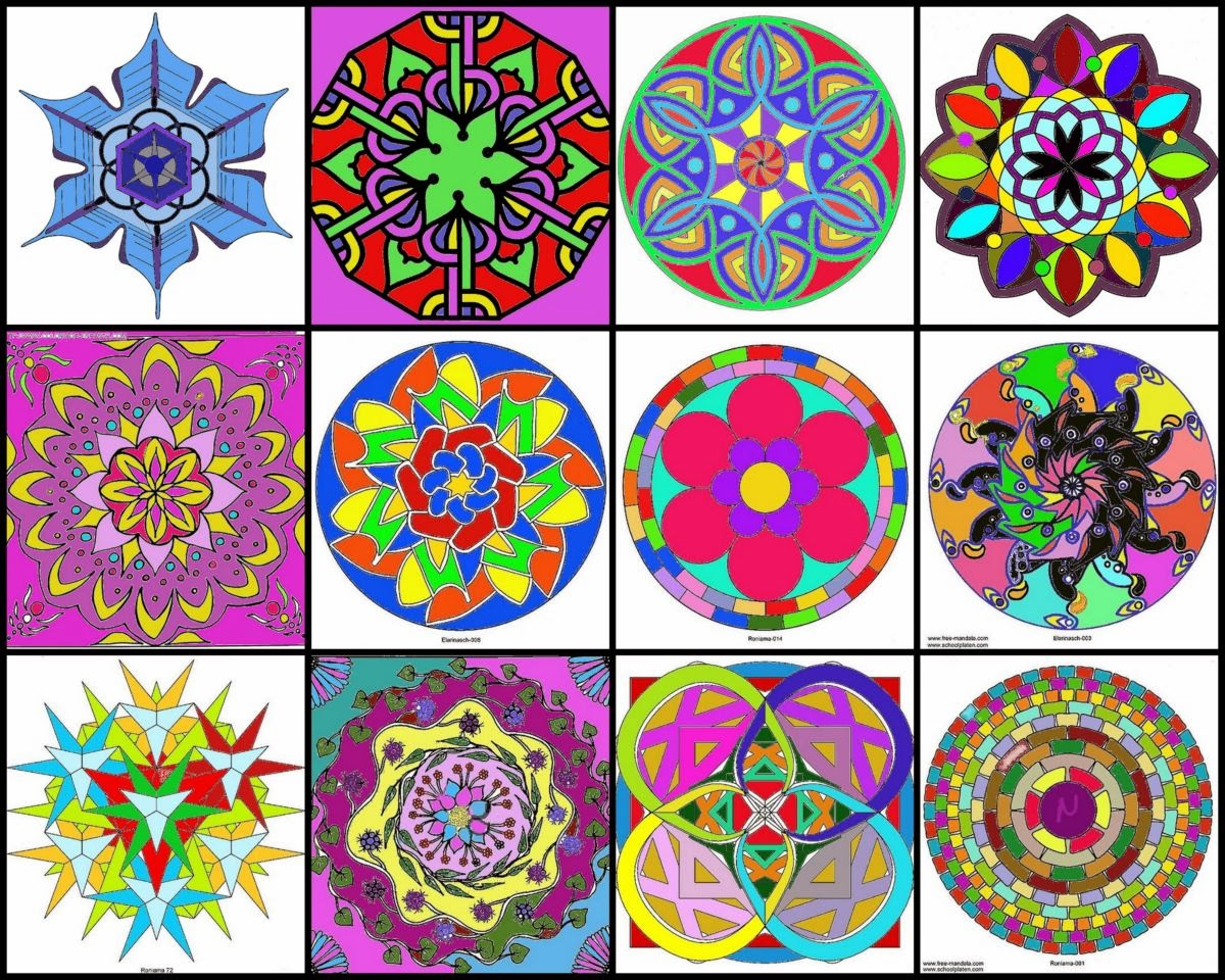 El mundo en colores mandalas cÓmo dibujarlos