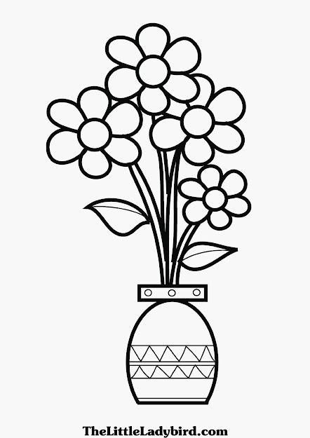 Flower Vase Coloring Page Best Photos Of Vase Coloring Page  Flower Vase  Coloring