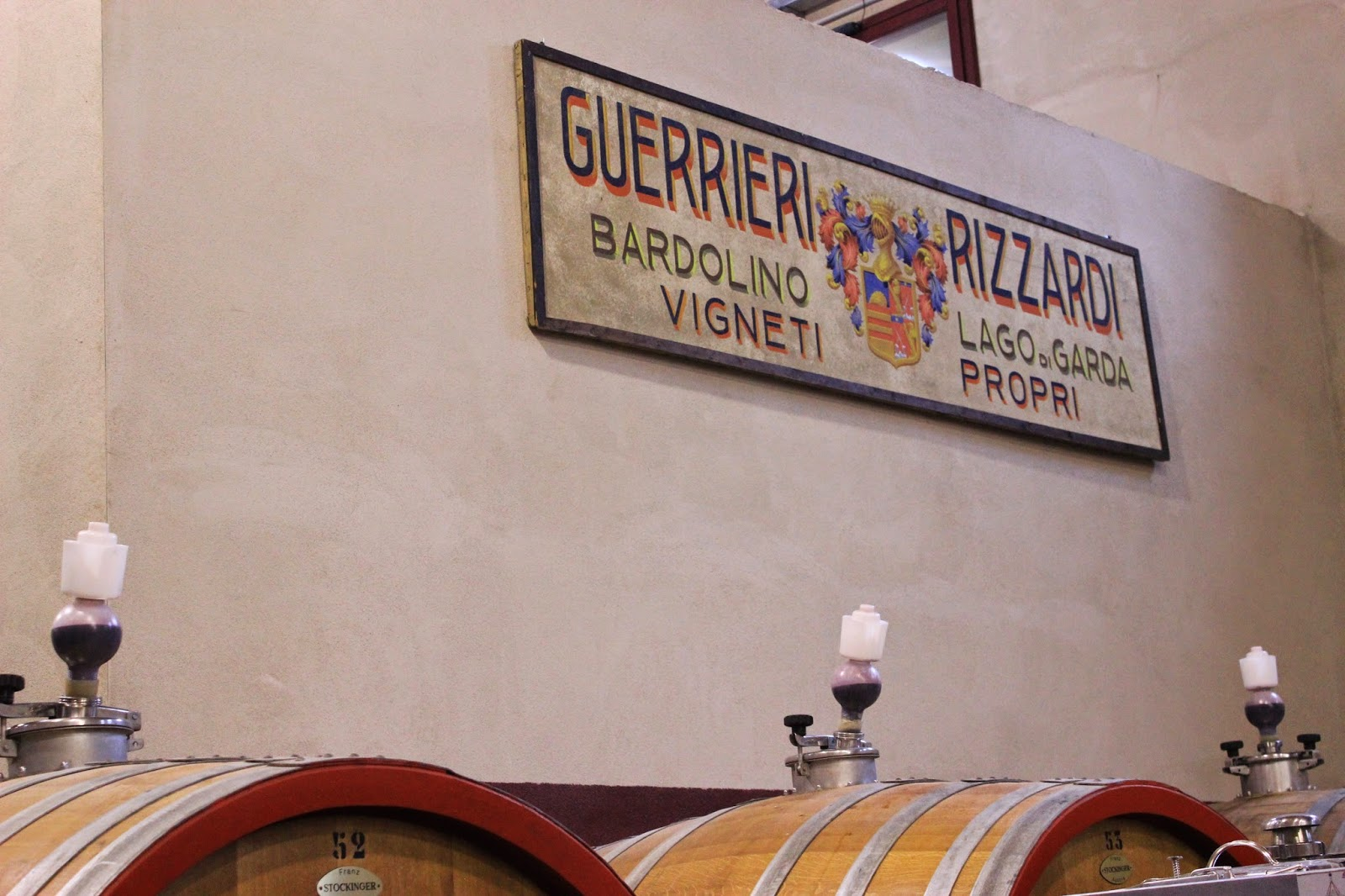 Wine cellar of Guerrieri Rizzardi