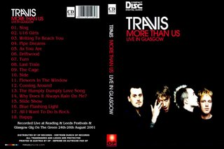 TRAVIS - MORE THAN US - LIVE IN GLASGOW IN 2001