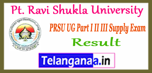 PRSU Pt. Ravi Shukla University Supplementary UG Result 2017