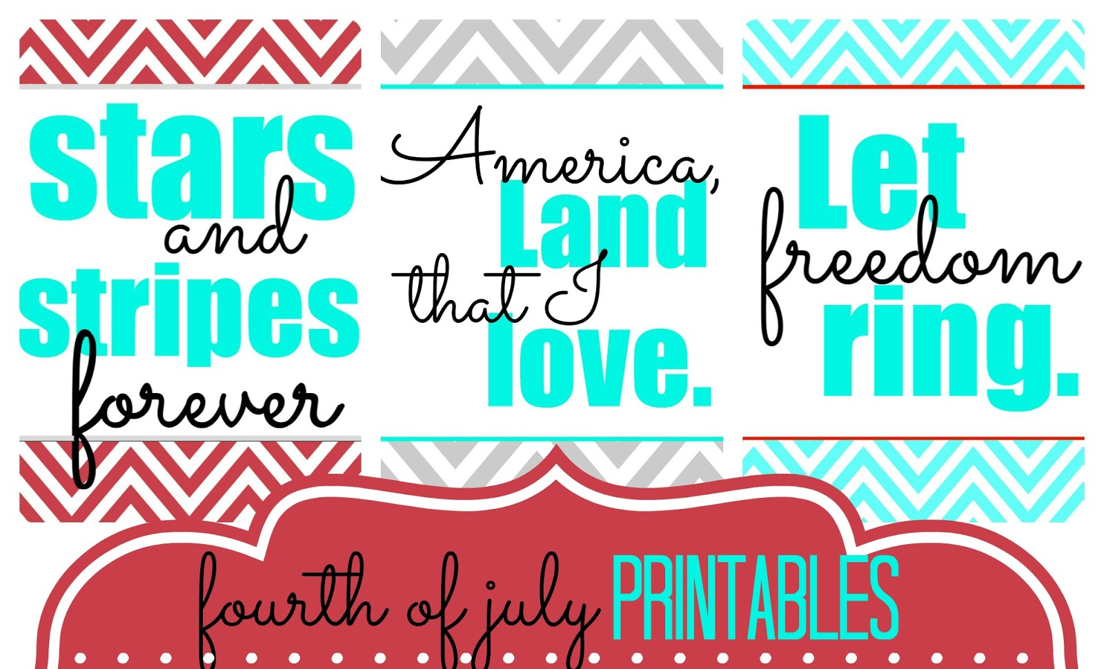 Tattered And Inked Fourth Of July Free Printable Set Of 3
