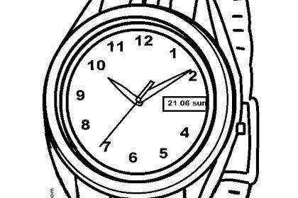 Mewarnai Gambar Jam Tangan