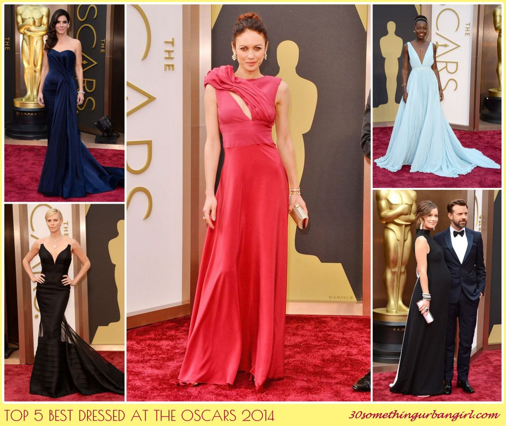 Top 5 best dressed at the Oscars with dark colored and colorful gowns