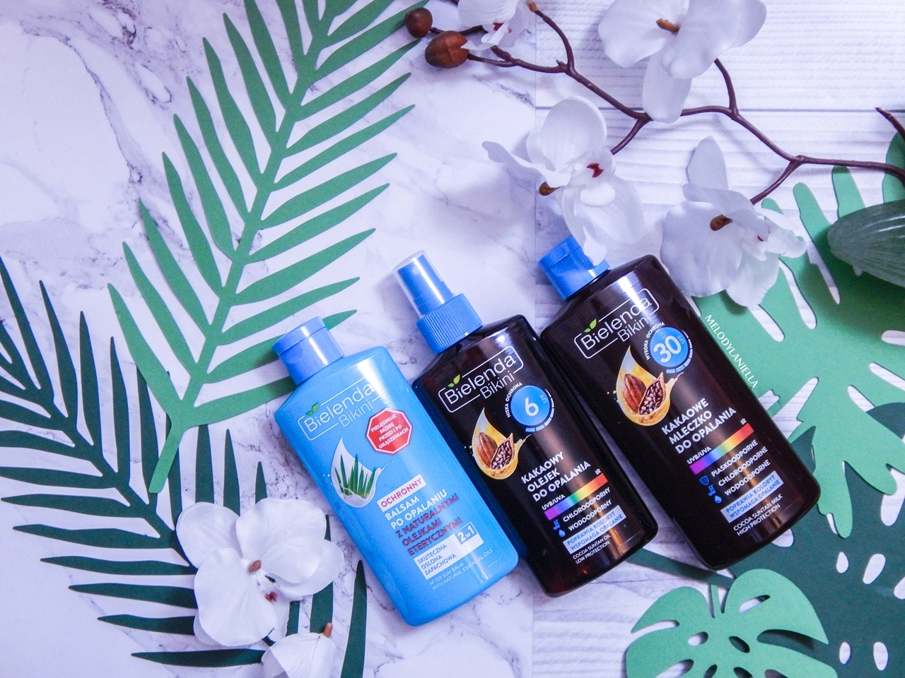 1 bielenda jak chronić skórę przed słońcem balsam po obalaniu bielenda bikini kakaowy olejek do opalania 6spf 30 spf jak dbać o skórę latem ochrona skóry w wakacje recenzje opinie bielenda melodylaniella