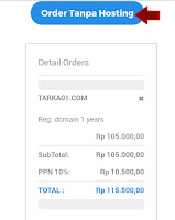 Order Tanpa Hosting