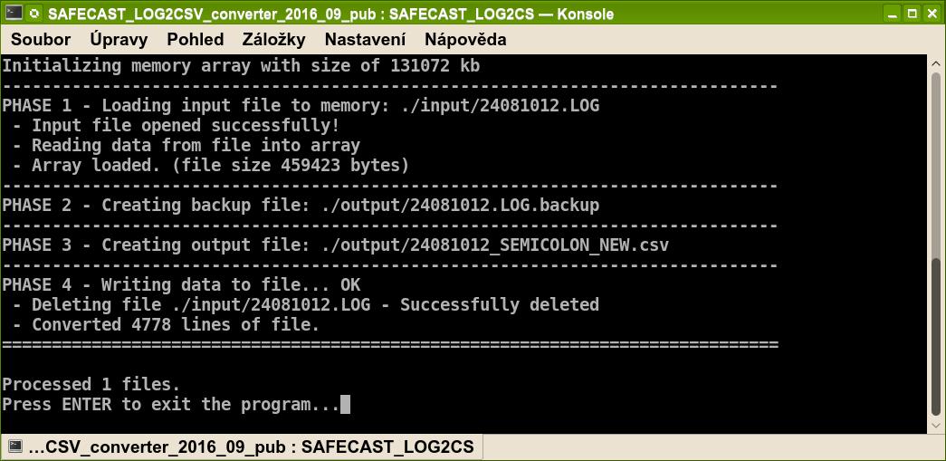 61f17f86f3e Převedené soubory ve formátu CSV najdete spolu se zálohou vašich LOG  souborů ve složce