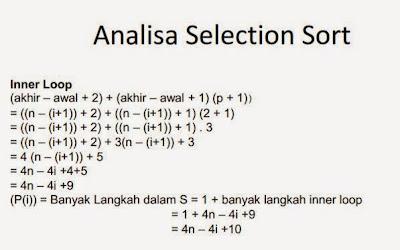 Analisa Kompleksitas Waktu dan Effisiensi Algoritma Selection Sort