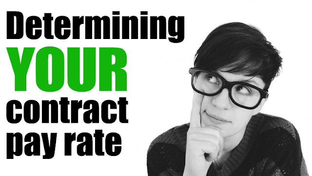How to determine your contract pay rate
