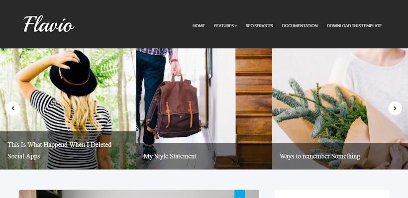 Flavio Free Blogger Template