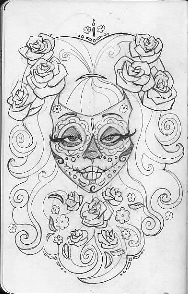 Leigh Young Illustration: Sugar Skulls
