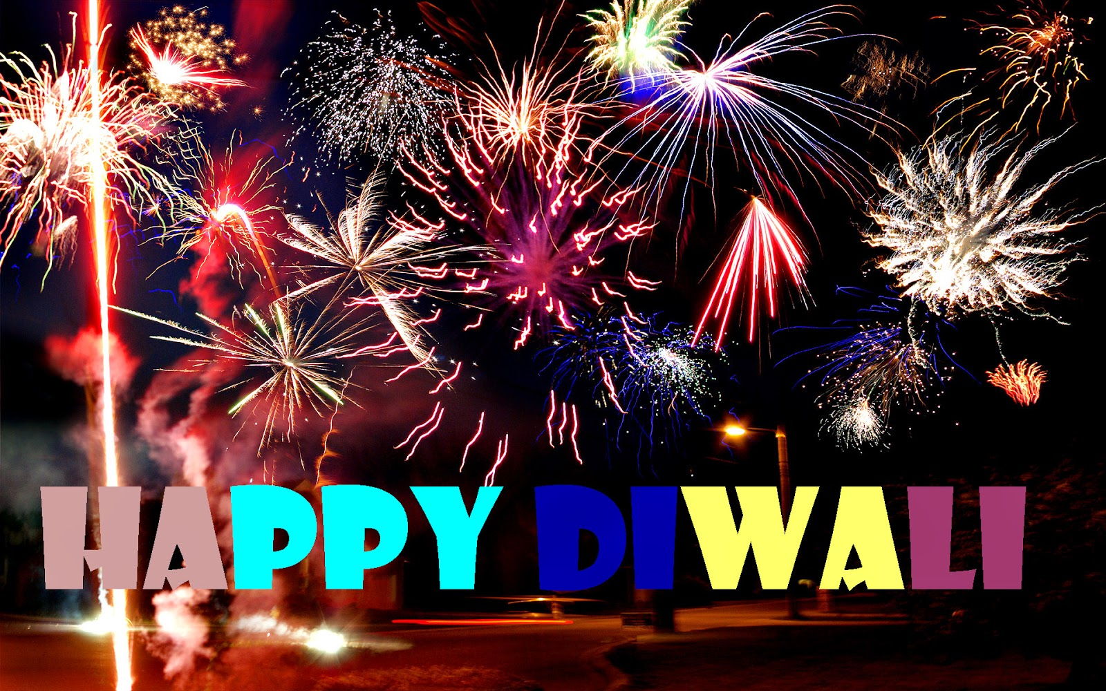 happy diwali with fireworks image