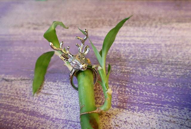 Christmas Deer Ring