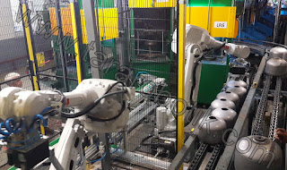 Kaynak makinesi besleme robotu mutfak tüpü