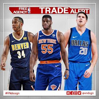 New York Knicks, Denver Nuggets, Dallas Mavericks