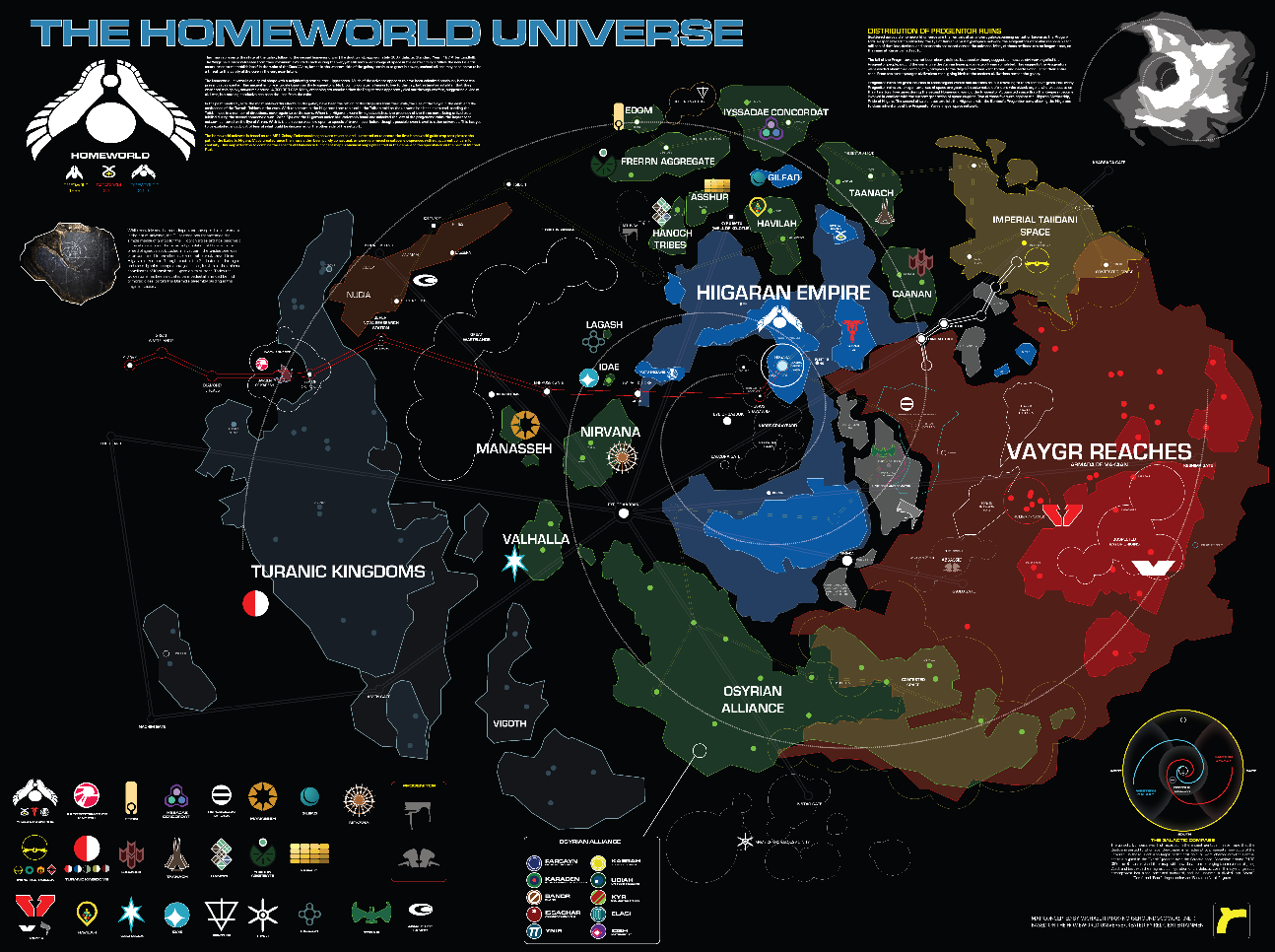 The Wertzone: Map of the HOMEWORLD galaxy on