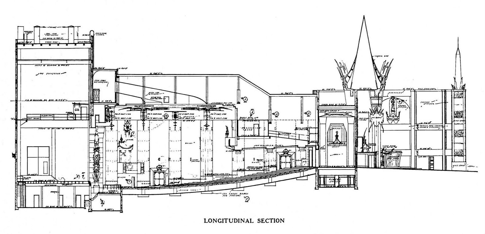 a section view of the theatre from volume 1 of american theatres of today 1927 by r f sexton and b f betts