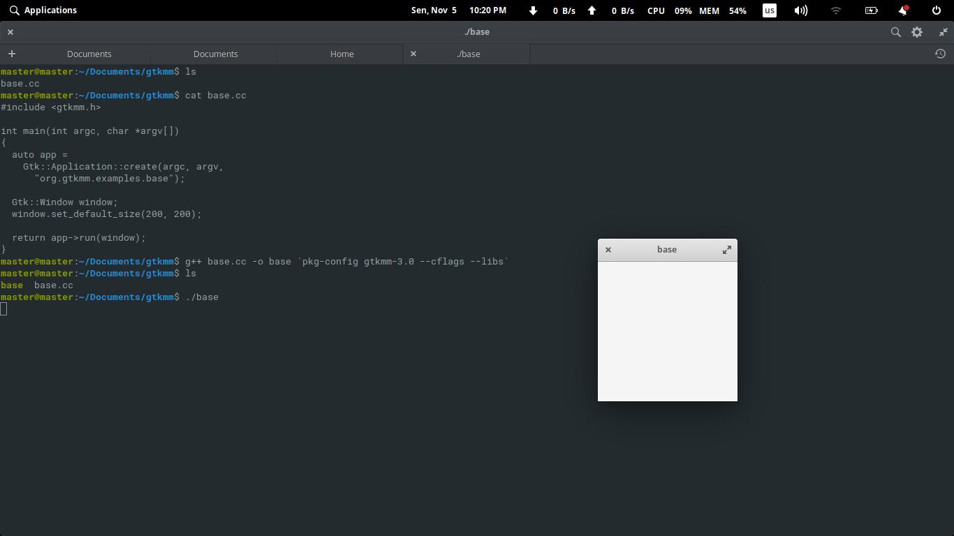Setup C++/Gtkmm Programming Tools on Ubuntu for Beginners