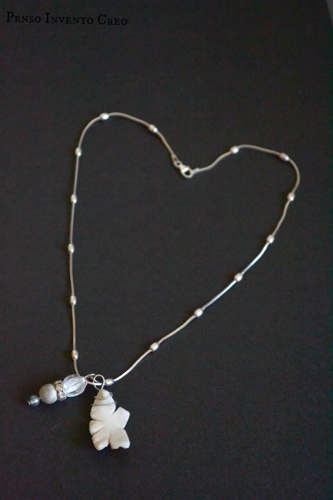 abbastanza Come creare una collana da un frammento di una conchiglia, ovvero  TK23