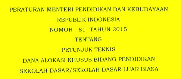 Image Result For Download Permendikbud Juknis Dak A