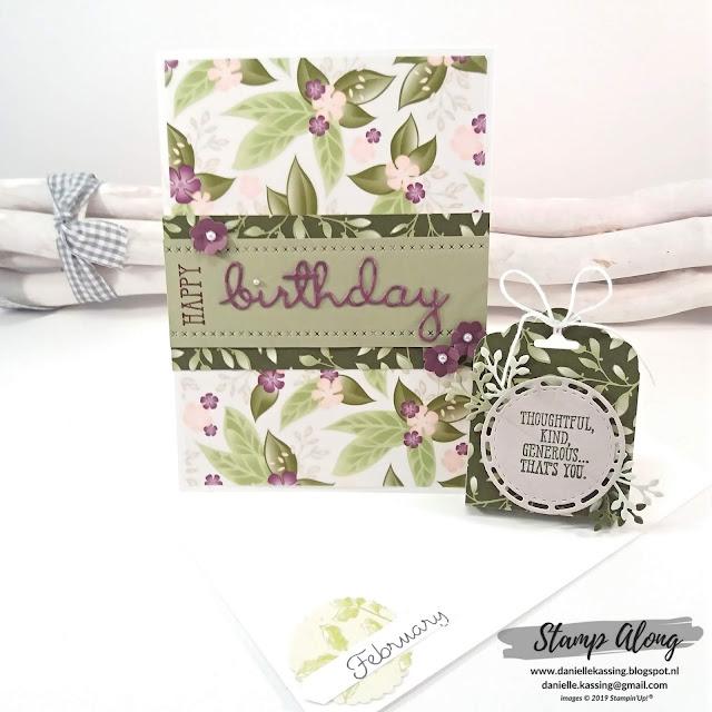 Stampin' Up! Floral Romance dsp, YCCI kit februari 2019