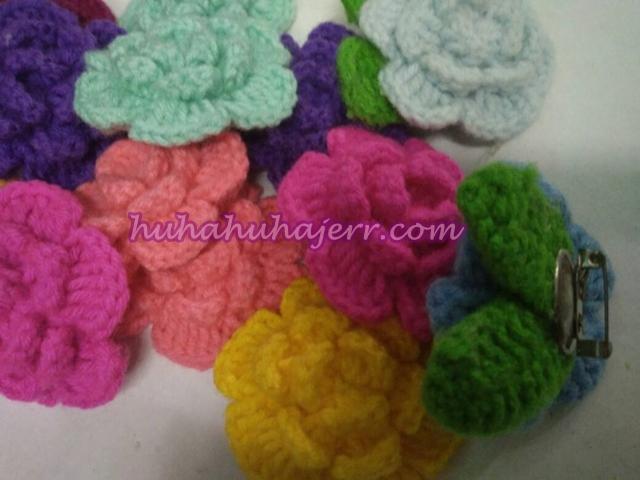 DIY Bunga Rose Crochet Yang Cantikkk .....