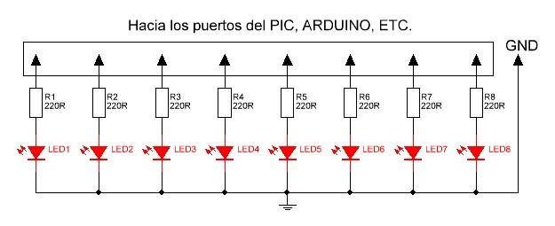 Kit modulo Leds esquema.