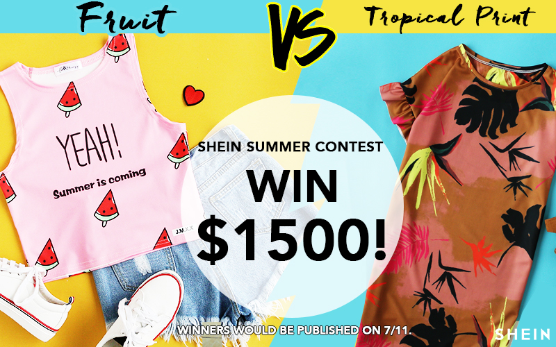Shein Summer Contest:Fruit VS Tropical Print