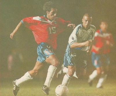 Guatemala y Chile en partido amistoso, 17 de febrero de 1999