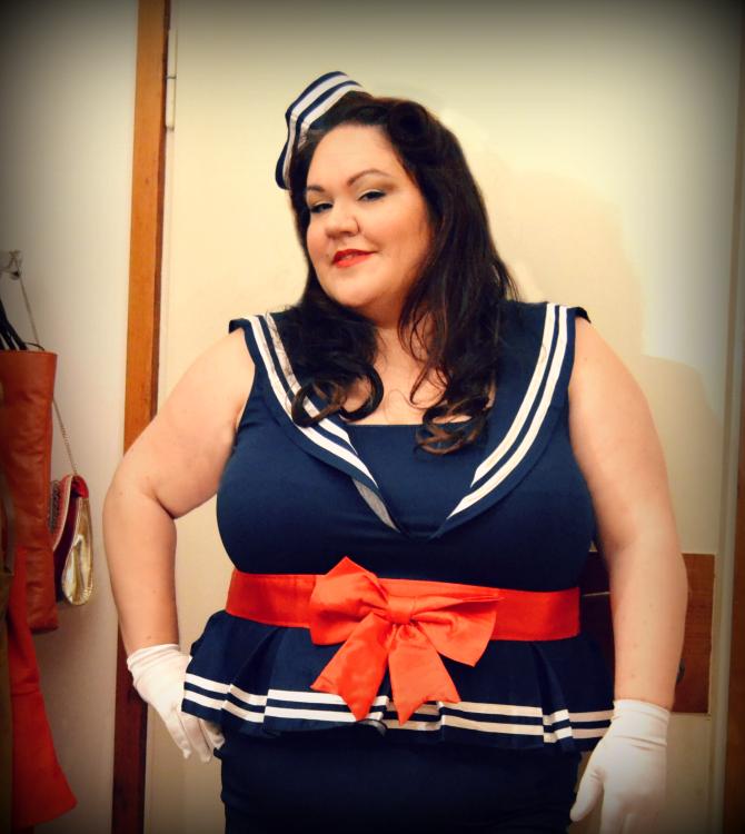 pinup plus size marinaretta costume di carnevale