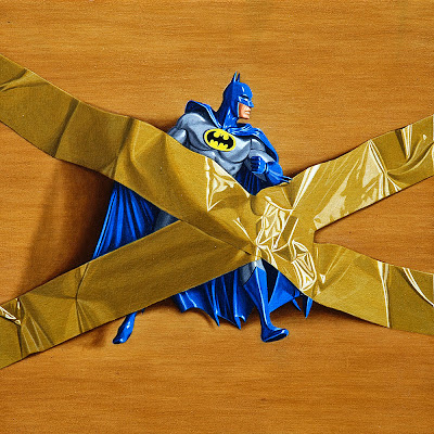 Trapped Batman Number III - trompe l'oeil by Simon Monk