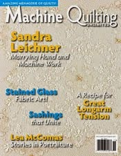 Published in Machine Quilting Unlimited