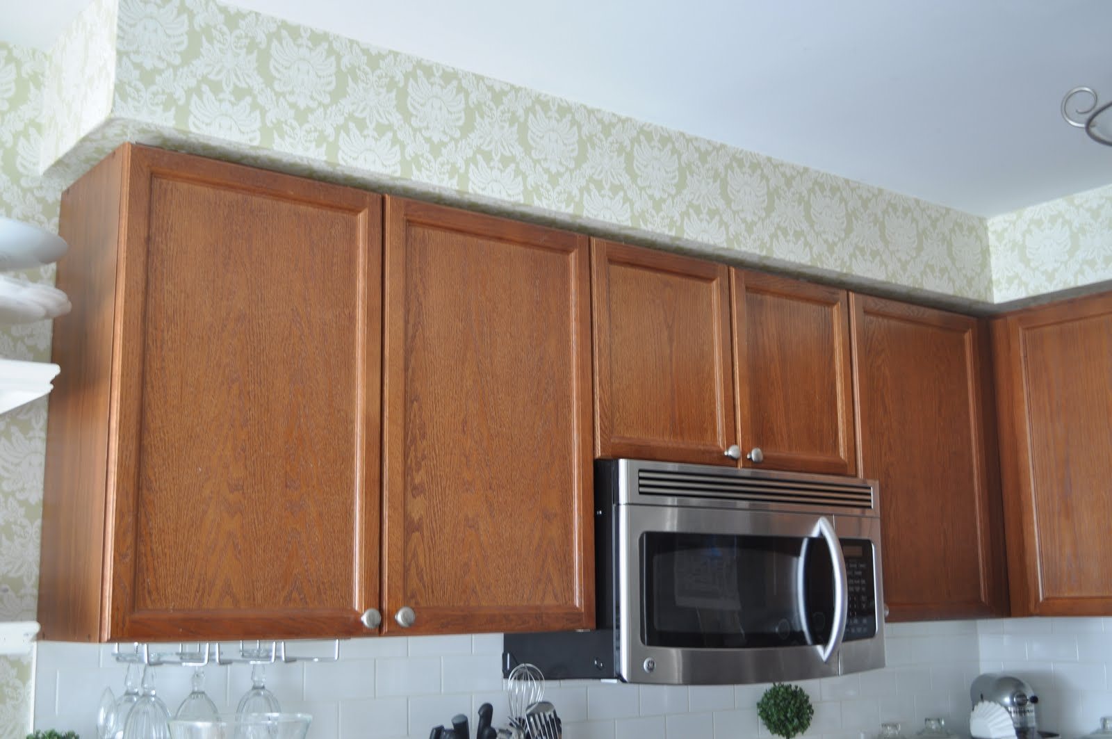 Oak Kitchen Cabinets Before and After Restored