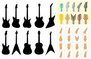 дизайн грифа гитары