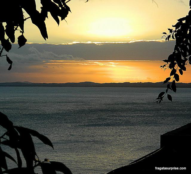 Pôr do sol na Ladeira da Barra, Salvador, terraço do Café da Aliança Francesa