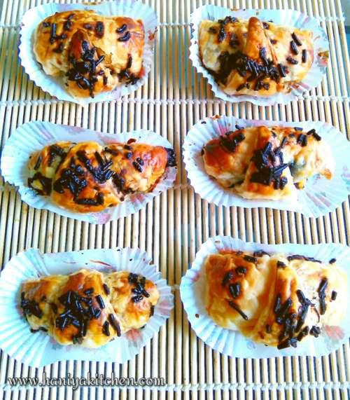 puff pastry isi nanas coklat