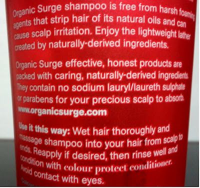 Organic Surge Color Protect Shampoo Review Claims Description