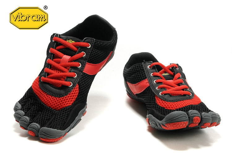 factory authentic 01b99 00579 Vibram Fivefingers Speed Black Red Shoes ...