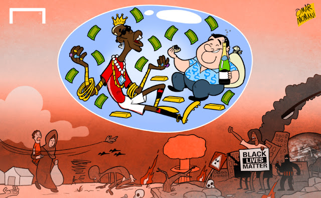 Pogba and Raiola enjoying with their money