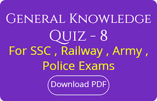 General Knowledge Quiz - 8