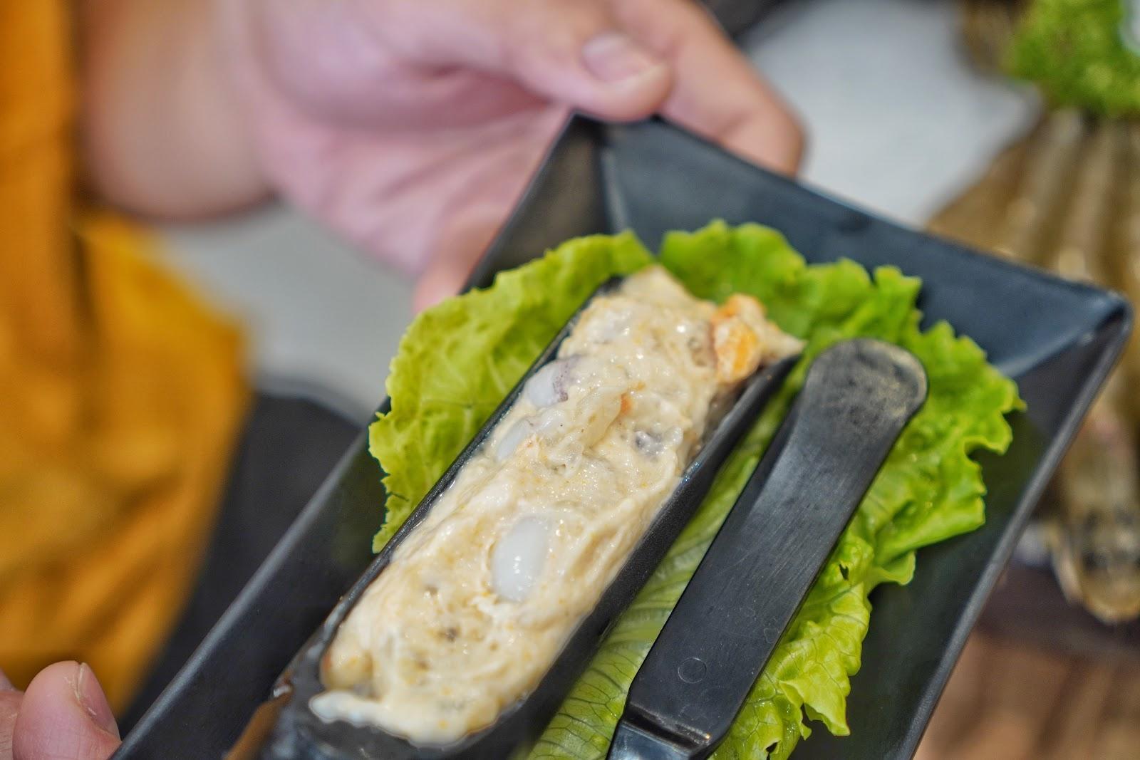 台南中西區美食【小蔡什鍋】餐點介紹 手工干貝花枝漿