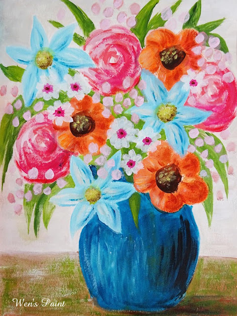 flowers painting by Wen's Paint