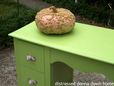 vanity makover, painted furniture, citron green