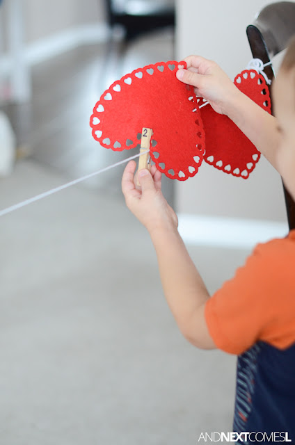 Valentine's Day themed fine motor activities