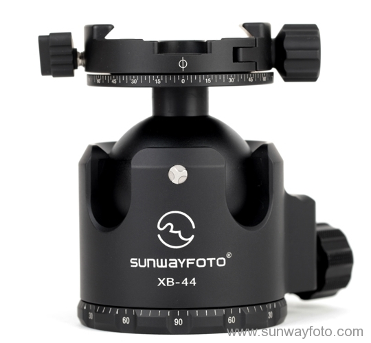 Sunwayfoto DDH-02 on XB-44 ball head