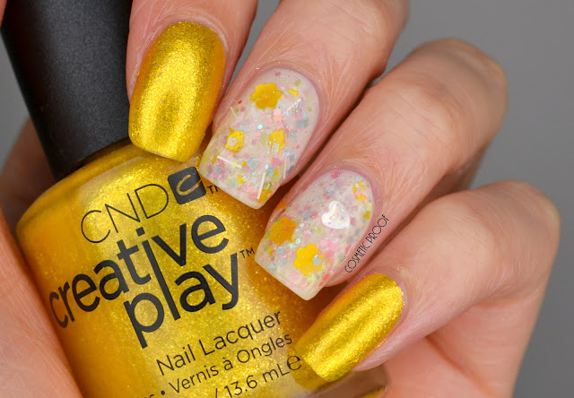 CND Foiled Again Beyond the Nail Vintage Dress Swatch