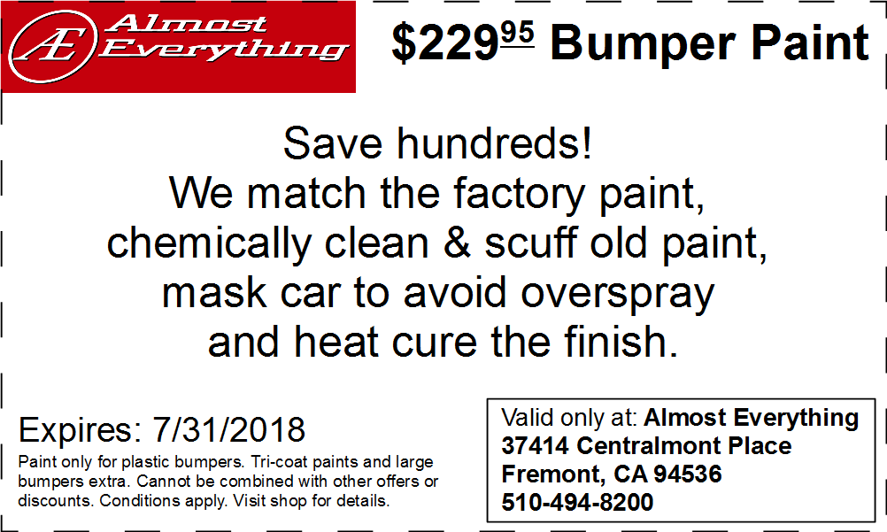 Bumpers coupons