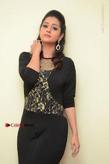 Telugu Actress Manasa Manohar Stills in Black Long Dress at Naku Nene Thopu Turumu Trailer Launch  0011.JPG